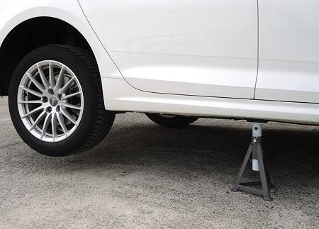Elevación segura del vehículo